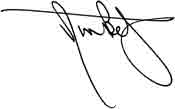 signature of President Betz
