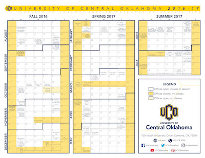 Uco Academic Calendar.Centralities For Friday Jan 6 2017